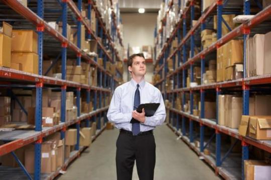 warehouse man in suit
