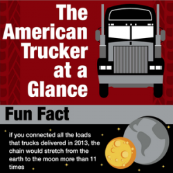 The American trucker at a Glance Fun Fact