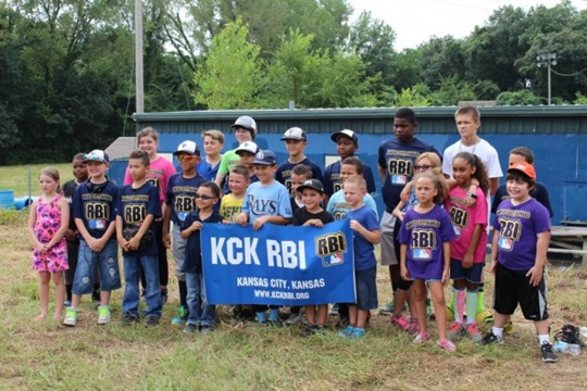 KCK RBI kids with poster