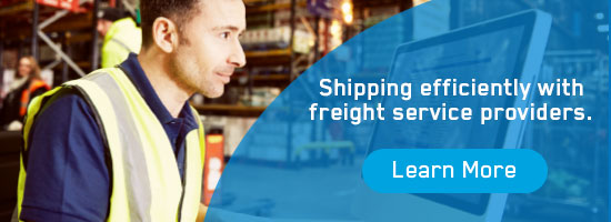 Shipping efficiently with freight service providers