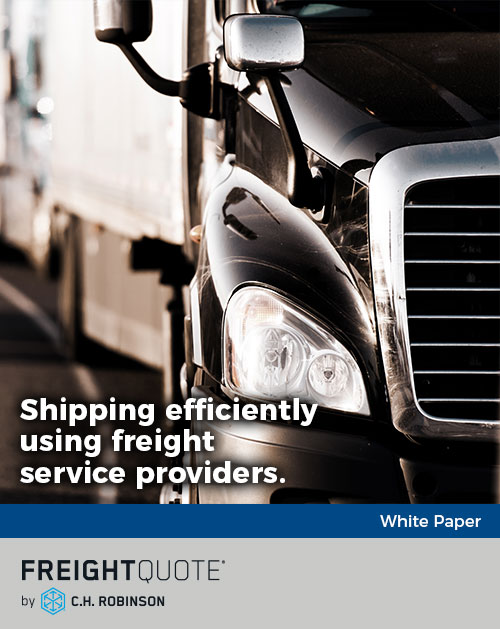 Shipping efficiently using freight service providers