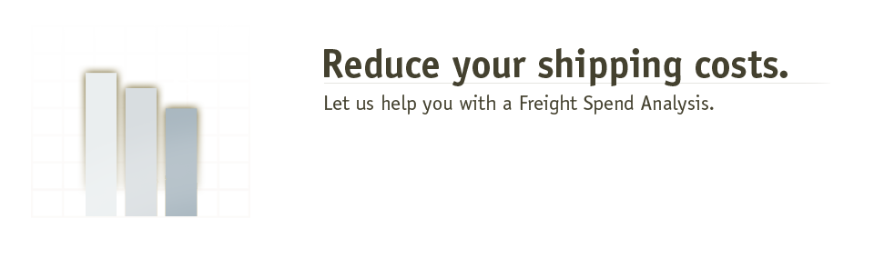 Reduce your shipping cost. Let us help you with a Freight Spend Analysis.